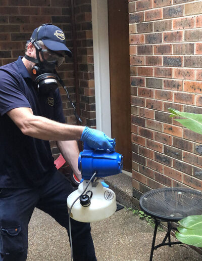 Disinfectant Spray Outdoors